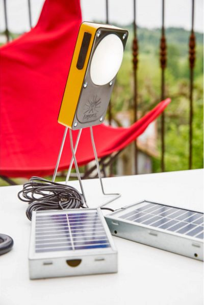 lampe solaire table papillo